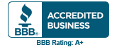 Click for the BBB A+ Business Review